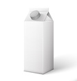 Milk Juice Beverages Carton Package Blank White On vector image vector image