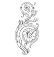 modern french ornament have round and designer vector image vector image