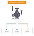 money bag dollar growth stock business flow chart vector image