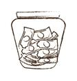 money saving money glass sketch vector image vector image