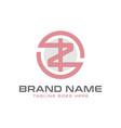 monogram logo design with letter zi vector image vector image