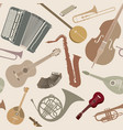 music sign seamless background musical vector image vector image