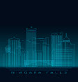 niagara falls skyline detailed silhouette modern vector image vector image