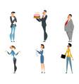 office cartoon workers set vector image vector image
