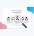online job search and human resource recruitment vector image