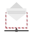 open envelope with document icon vector image