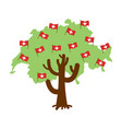 patriotic tree switzerland map swiss flag vector image vector image