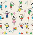 pattern merry kids vector image vector image