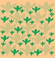 pattern of green and light green cactus beige vector image