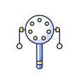 pellet drum rgb color icon vector image