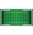 Realistic American Football Field Background vector image vector image