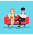 Retro Happy Family Modern Flat Design Concept vector image