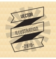 Ribbon and striped circle design vector image vector image
