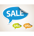 sale speech bubble as sticker vector image vector image