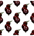 Seamless pattern of cartoon currants vector image