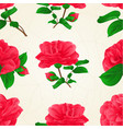 seamless texture three flowers camellia japonica vector image vector image