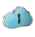 Security Cloud Computing Concept vector image vector image
