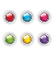 Set of color glass buttons vector image vector image