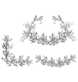 Set of laurel wreath vector image vector image