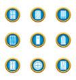 shiny window icons set flat style vector image vector image