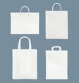 shopping bag mockup paper handle plastic paper vector image vector image