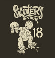 skate rider t-shirt graphics design vector image
