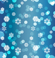 Snowflakes Winter seamless texture endless pattern vector image vector image