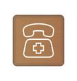 sos icon rescue services phone call vector image vector image