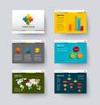 template for presentation slides vector image vector image