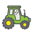 tractor filled outline icon transport and vehicle vector image
