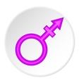 Transgender sign icon cartoon style vector image vector image