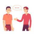two men communicating in flat vector image