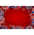 usa background design star and fireworks vector image vector image