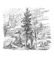 vintage drawing biblical prophet elijah is vector image