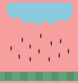 watermelon pattern background wallpaper simple vector image vector image
