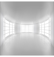 White Rounded Room Illuminated by Sunlight vector image vector image