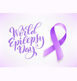 world epilepsy day march 26 realistic purple vector image vector image
