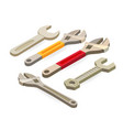 wrench spanner isometric construction tools vector image vector image