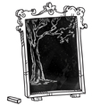 Chalkboard with a tree vector image