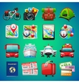 Colorful Travel Icons vector image