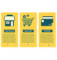 concept of online shopping web screen with vector image
