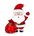 Santa Claus with a bag vector image