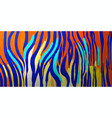 abstract graphic tiger skin texture in bright vector image vector image