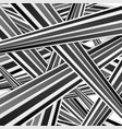 Abstract tech black and white striped pattern vector image