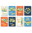 Back to school information pages set Education vector image vector image
