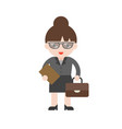 business woman in flat design professional people vector image vector image