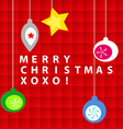 Christmas ornament card vector image vector image