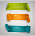 collection curved colored papers abstract banners vector image