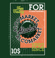 color vintage alcomarket banner vector image vector image