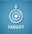 concept of goal or target achievement with dart vector image